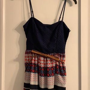 Navy strapped summer dress